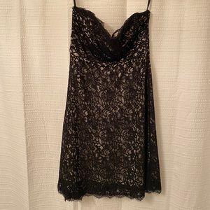 White House Black Market strapless lace dress
